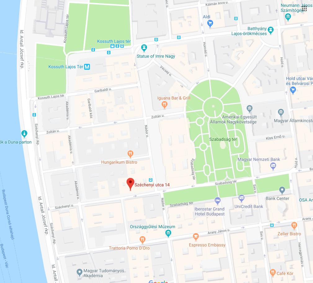 Map - Budapest, 14. Széchenyi street